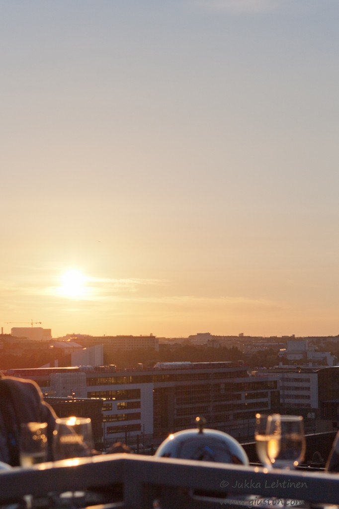 Sunset over Helsinki