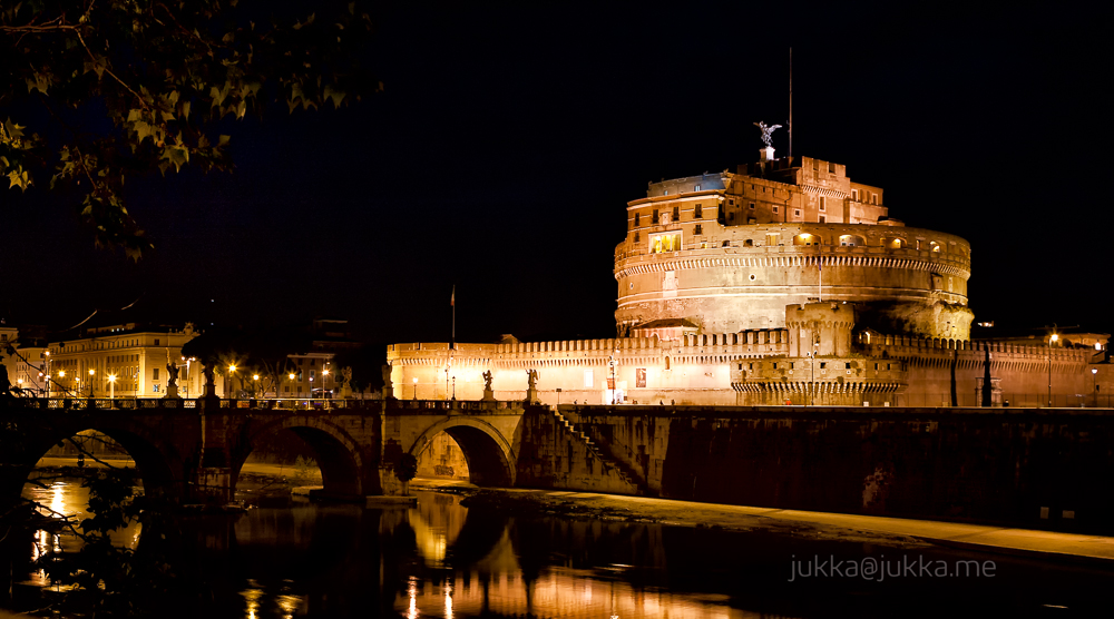 River Tiber runs by Castel Sant'Angelo in Rome