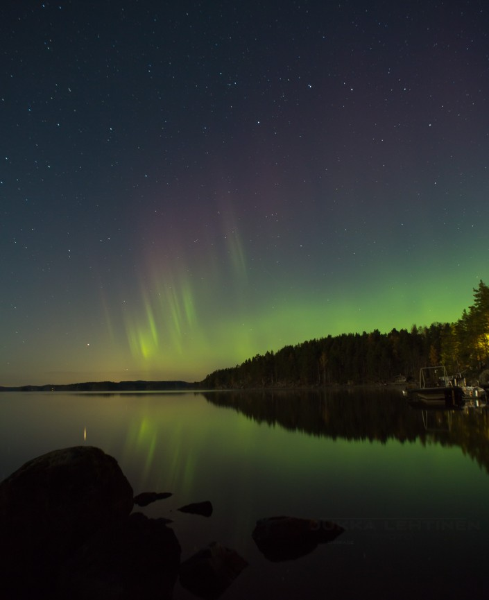 Auroras at the lake cottage!