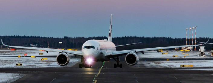 Nice sunset at Helsinki Airport